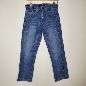Calvin Klein Embroidery Pocket Bootcut Ankle Jeans